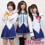 風見学園付属 女子制服(リボン3色セット) BIG(コスプレ衣装)