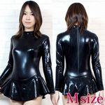 スカート付き長袖レオタード M(衣装・コスチューム)