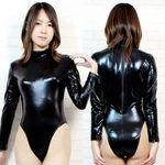 長袖ハイネックレオタード 黒 BIG(衣装・コスチューム)