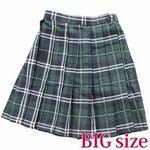 ステッチ入りチェック柄プリーツスカート BIG(衣装・コスチューム)