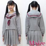グレーカラーのセーラー服(冬制服) M(衣装・コスチューム)