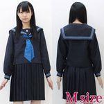 青スカーフのセーラー服(冬制服) M(衣装・コスチューム)