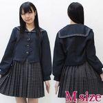 セーラー襟の学生服(冬制服) M(衣装・コスチューム)