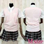 ニット制服セット ピンク M(衣装・コスチューム)