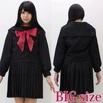 黒セーラー服(冬服) BIG(衣装・コスチューム)