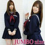 長袖セーラー服セット JUMBO(衣装・コスチューム)