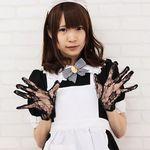 レースショート手袋 黒(衣装・コスチューム)