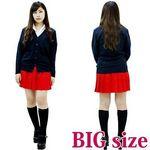 無地プリーツスカート 赤 BIG(衣装・コスチューム)