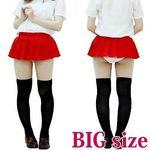 超ミニ無地プリーツスカート単品 赤 BIG(衣装・コスチューム)