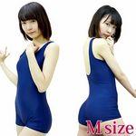 パッド付きの本物スクール水着(ズボンタイプ) 紺 M(衣装・コスチューム)