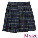 ポケット付きのチェック柄プリーツスカート単品 紺×緑 Mサイズ(衣装・コスチューム)