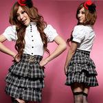 ハイウエスト・チェック制服(衣装・コスチューム)