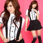 肩紐付ミニスカートの制服(衣装・コスチューム)