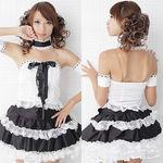 白×黒・ゴスロリ調の萌え系ドレス(衣装・コスチューム)