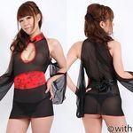 赤×黒チャイナ風コスプレ(衣装・コスチューム)