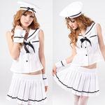 マリン帽付・ホワイトセーラー服(衣装・コスチューム)