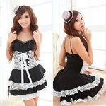 黒×白・編み上げデザインドレス(衣装・コスチューム)