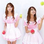 ピンクのパフスリーブメイド(衣装・コスチューム)