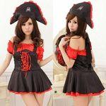 海賊帽付き・ミニワンピのセクシーパイレーツ(衣装・コスチューム)