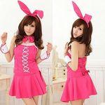 キャンディピンクのバニーガール(衣装・コスチューム)