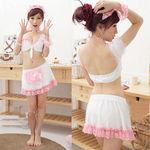 白×ピンク・ミニトップスのフリリーメイド(衣装・コスチューム)