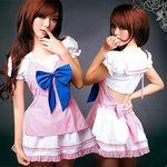 3WAY・ギンガムチェックのセーラーメイド(衣装・コスチューム)