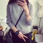 定番 レディースニット グレーカラーセーター Mサイズ(衣装・コスチューム)