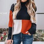 3色切り替えニットセーター(衣装・コスチューム)