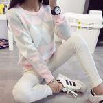 ダイヤ柄キューティー3色ニットセーター(衣装・コスチューム)
