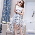 ノースリーブ花柄デザインワンピース3段スカート(衣装・コスチューム)