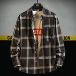 ユニセックス 定番チェック柄シャツ L メンズ レディース(衣装・コスチューム)