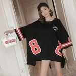 ユニセックス ストリート系 ゆったりオーバーサイズTシャツ M(衣装・コスチューム)