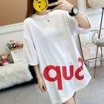 ゆったりオーバーサイズ カジュアルTシャツ M ホワイト(衣装・コスチューム)