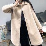 ボタン留めミドル丈ウールコート Mサイズ(衣装・コスチューム)
