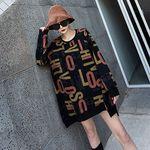 ストリート系デカ文字ロングトレーナー フリーサイズ(衣装・コスチューム)