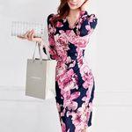 スタイリッシュ花柄ナイトドレス Mサイズ(衣装・コスチューム)
