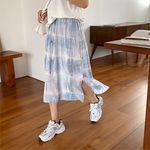ダブルスリット入り染めロングスカート フリーサイズ(衣装・コスチューム)
