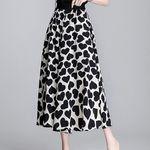白黒ハート柄ロングスカート Mサイズ(衣装・コスチューム)
