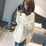 ゆったりもこもこニットセーター ホワイト フリーサイズ(衣装・コスチューム)