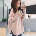 ゆったりもこもこニットセーター ピンク フリーサイズ(衣装・コスチューム)