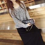 編み込みニットセーター グレー+黒ロングワンピース フリーサイズ(衣装・コスチューム)