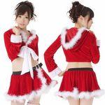 巻スカート風ショートパンツのリボンサンタ(衣装・コスチューム)