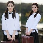 セパレート・ピュアホワイトのチャイナ女学生(衣装・コスチューム)