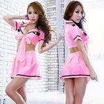 大きなリボンのポリス風ピンクコスチューム(衣装・コスチューム)