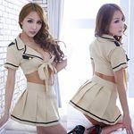 大きなリボンのポリス風ベージュコスチューム(衣装・コスチューム)