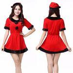 小悪魔カラーな赤×黒のサンタ風ワンピース(衣装・コスチューム)