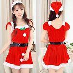 クリスマスカラーのフレアスリーブサンタ(衣装・コスチューム)