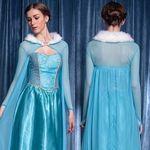 シースルーケープ付き雪の女王ドレス(衣装・コスチューム)