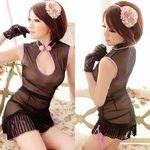 サイドギャザーがセクシーなチャイナ風スリップドレス(衣装・コスチューム)