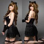 猫耳×しっぽ・小悪魔セクシーブラックキャット(衣装・コスチューム)
